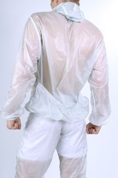 cottweiler - milky transparency rain jacket/joggers