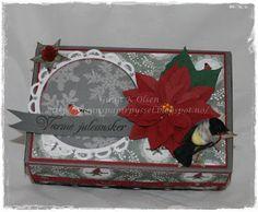 Gunns Papirpyssel, gift box, gave eske, jul, christmas, papirbretting, paperfolding, Papirdesign, scrapbooking, scrapping, papir, paper, kort, card