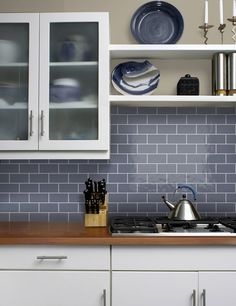 Impressive Tips Can Change Your Life: White Counter Tops Islands counter tops colors sinks.Inexpensive Counter Tops Light Fixtures counter tops diy how to build. Formica Countertops, Butcher Block Countertops, Butcher Blocks, Granite Kitchen, Kitchen Flooring, Kitchen Tiles, Grey Kitchens, Cool Kitchens, Gray Subway Tile Backsplash