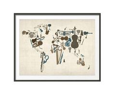 Lámina mapamundi musical