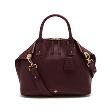Small Alice Zipped Tote in Oxblood Small Classic Grain | null | Mulberry