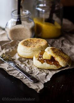 Coconut English muffins (using coconut oil & coconut milk)