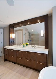 Stylish Modern Bathroom Vanity Sparkles Thanks To Well Placed Lighting