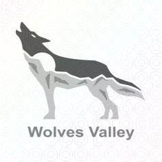 Wolves+Valley+logo+wolf+dog+mountain+moon+stars+night+animals+animal shelter