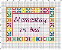 Namastay in Bed Cross Stitch Pattern Instant by SnarkyArtCompany