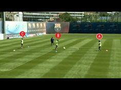 Triangolazioni ad un tocco F.C. Barcelona - UP COACH - YouTube
