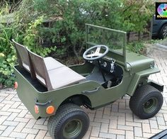 CJ mini jeep built on riding lawn mower... a must have for future Justin JR!