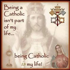 The Catholic Church is beautiful, full of beautiful tradition, that Jesus Christ, Himself started for us to always have Him!!!