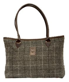 Glenalmond Harris tweed Olga tote