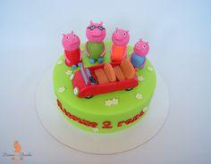 Peppa pig cake, пеппа торт, peppa pig party, пеппа