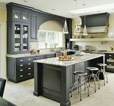 Kitchen - dark cabinets
