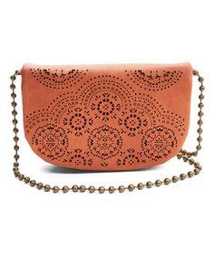 Look at this #zulilyfind! Orange Perforated Crossbody Bag #zulilyfinds