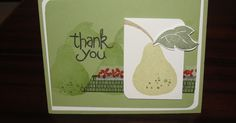 Rachel's Stamping Place: Thank You. Stampin' Up!'s Apple of My Eye stamp set makes some really great cards.