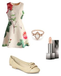 """Tan everywhere"" by keiabeia ❤ liked on Polyvore featuring Chicwish, Luo Luo, BEA and Burberry"