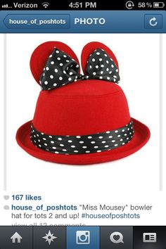 Minnie mouse ears hat Ellestyle