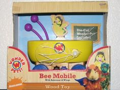 Bee Mobile with Antennae & Wings (Wood Toy) Wonder Pets, Wood Toys, Toy Chest, Lunch Box, Wings, Bee, Vehicle, Action, Character