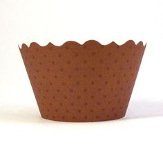 Chocolate Brown Cupcake Wrappers - 50pk www.bellacupcakecouture.com  $29.99 includes 12