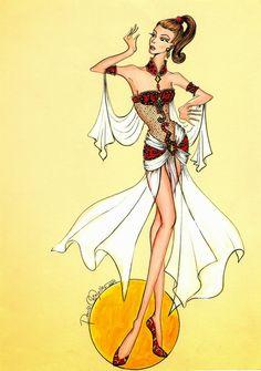 desenho de moda curitiba: Desenho de Moda - Dança do ventre: