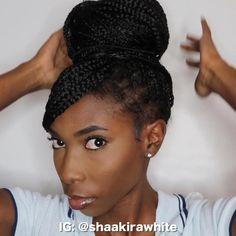 Cute Box Braids Hairstyles, Box Braids Hairstyles For Black Women, Braids Hairstyles Pictures, Braided Hairstyles Updo, African Braids Hairstyles, Braids For Black Hair, Scarf Hairstyles, Protective Hairstyles, African Hair Braiding