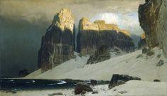 Eugen Bracht - Das Gestade der Vergessenheit / The Shore of Oblivion; 1889