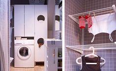 lille badeværelse med tøjvask