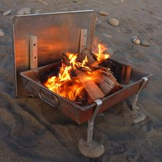 Wilderness FIRE PAN - A Complete Light Weight Firepan for Rafting and and Camping