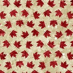 Stonehenge - Oh Canada - Maple Leaves on Beige - Sew Sisters Online Store featuring quilt fabric, Block-of-the-Month programs, Quilt Kits, Patterns, Books and Notions. Canadian Quilts, Quilts Canada, Canada Maple Leaf, Quilt Of Valor, Stonehenge, Leaf Art, Sewing Notions, Paper Background, Printing On Fabric