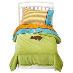 ZUTANOBLUE Into The Forest 4pc Toddler Bedding