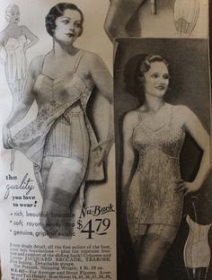 1930s Fashion, Emo Fashion, Victorian Fashion, Gothic Fashion, Vintage Fashion, Vintage Underwear, Vintage Lingerie, Vintage Purses, Vintage Ads