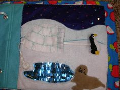 Felt Quiet book penguin/seal page-Adventures of a Stay at Home Mom