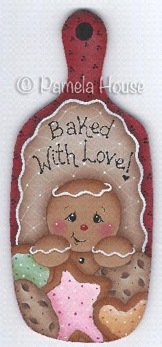 The Decorative Painting Store: Baked with Love Gingerbread Mini Breadboard, All Pattern Packets