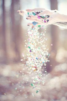 like diamonds and flower petals.