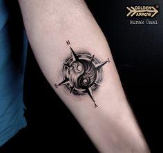 Yin Yang Tattoo Artist: Burak Ünal Golden Arrow Tattoo, Istanbul, TR from - - Hand Tattoos, Ankle Tattoos, New Tattoos, Small Tattoos, Tattoos For Guys, Cool Tattoos, Future Tattoos, Yin Yang Tattoos, Tatuajes Yin Yang