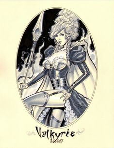 1887 Valkyrie by Michael Dooney Comic Art
