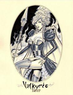 1887 Valkyrie by Michael Dooney Comic Art