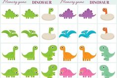 Exclusive design free printable dinosaur pictures memory game printables creative kitchen to color for Dinosaur Games, Dinosaur Printables, Dinosaur Activities, Printable Activities For Kids, Dinosaur Party, Free Printables, Preschool Dinosaur, Free Preschool, Preschool Crafts