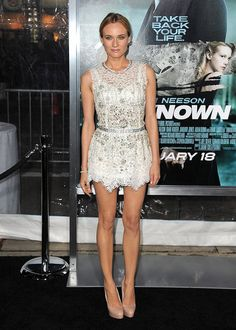 Diane Kruger in sparkly, lacy Dolce