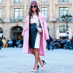 Not a simple black and white. We love this light pink over it! Look by Luiza Sobral. #winter #fashion #brazilianness www.brazilianness.com