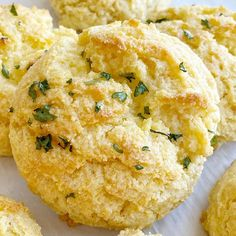 Cornbread Biscuits are easy drop biscuits that can be made in just minutes. Butter and sour cream make these cornbread biscuits so moist and buttery. Easy Drop Biscuits, Buttery Biscuits, Tea Biscuits, Soup Recipes, Cooking Recipes, Bread Recipes, Chicken Recipes, Dinner Recipes, Cinnamon Roll French Toast