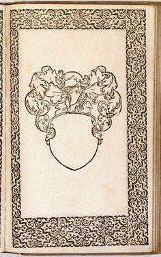 Een van de lege wapensjablonen Blanco sjabloon waarin professionele schilders op aanwijzingen van de inscriptor het familiewapen konden aanbrengen