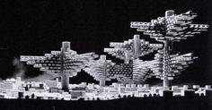 Clusters in the Air project, 1962, Arata Isozaki