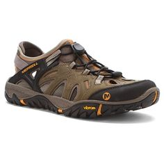 Head out in the Merrell All Out Blaze Sieve sandal, engineered for amphibious traction in and out of water. Offering breathability plus protective coverage, this men's hiking sandal has a waterproof leather and fabric upper with a stretch collar and bungee lace for a secure fit. Antimicrobial M Select™ FRESH reduces odor, while the Unifly™ midsole protects and connects you to the trail atop a TC5+ Vibram® outsole.