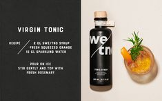 SWE/TNC – Swedish Tonic Syrup on Packaging of the World - Creative Package Design Gallery Alcohol Mixers, Tonic Syrup, Bad Room Ideas, Pond Design, Brewing Company, Packaging Design Inspiration, Coffee Bottle, Glass Bottles, Branding Design
