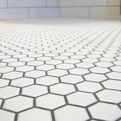 Hexagon Tile Floor B A T H R O O M Pinterest Bathroom Tiles