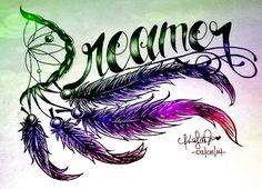 Dreamer Tattoo Feathers Design <3 Pretty Tattoos, Love Tattoos, Body Art Tattoos, Tattoo Drawings, Tatoos, Art Drawings, Tattoo Blog, I Tattoo, Dream Catcher Tattoo