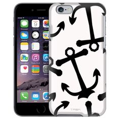 Apple iPhone 6 Anchors Black on White Case from Trek Cases Anchor Phone Cases, Anchors, Apple Iphone 6, Trek, Messages, Black, Products, Black People