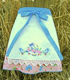 vintage embroidered aprons - Google Search