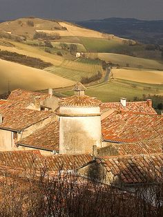 View of Lautrec & Farmlands, France #Travel #Holiday