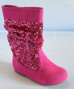Girl Boots w Sequins Sarago Toddler Dress Boots Sparkle Boots | eBay $24