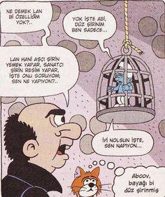 Düz Şirin - Komik karikaturler